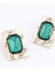 Women's Fashion  Jade Green Diamante Studs
