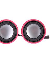 Portable USB Speaker Noir Mini haut-parleur pour téléphone portable Mp3 Tablet PC (C03, 1 paire)