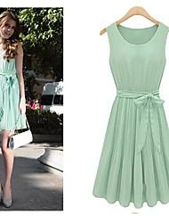 Women's Creased Chiffon Dress