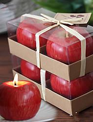 """2.75 """"H Apple Modèle de réveillon de Noël Bougie"""