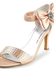 Women's Shoes Lace Spring / Summer / Fall Peep Toe Wedding Stiletto Heel Rhinestone Black / Blue / Pink / Red / Ivory / White / Gold
