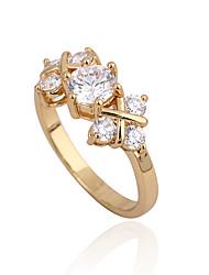 Or 18K anneau de Zircon J28624 de Xinxin femmes