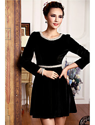 Women's Dresses , Suede Casual/Work Duolabana