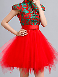 Women's Chinese Style Contrast Color Dress