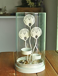 Floral Theme Candle Favors Piece/Set Candle Holders Non-personalised White