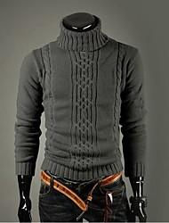 Gli uomini di stile coreano Slim Fit collo alto Collo Maglione