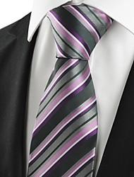 New Striped Lila Männer-Riegel-Krawatte für Hochzeit Souvenirs