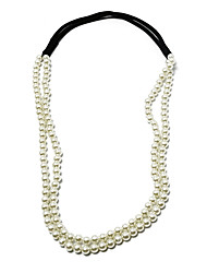 Imitation Pearl Wedding Headbands(White)