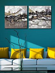 Натяжные Печать холст искусства абстрактные снежная равнина комплект из 2