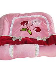 Motif Cherry Garden bowknot de princesse Kitty Sac de couchage Soft Pad pour Animaux Chats (couleur aléatoire)