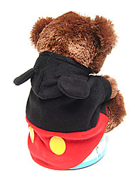Dog Coat / Hoodie Black Winter Cosplay / Halloween