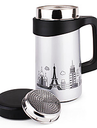 Personalized Travel Mugs with Handle, Stainless Steel 17oz