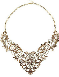 Vintage Hollow Out Statement Bib Necklace
