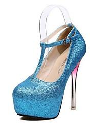 Women's Shoes Glitter Spring / Summer / Fall Heels / Platform Party & Evening Stiletto Heel Sparkling Glitter / Buckle / Crystal HeelBlue