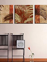 Toiles Tendues Art botanique Feuille de palmier Lot de 3