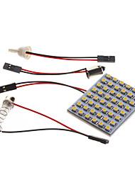 Ampoule 2W 48x3528SMD 140lm 3000K lumière blanche chaude LED pour la voiture (12V, 1 pc)