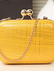 Women PU Casual / Event/Party Evening Bag Beige / Pink / Yellow