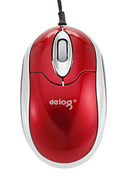 USB Wired Optical 1203DPI Mini Mouse Red