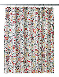 "Shower Curtain Modern Style Colorful Flower Print W71"" x L79"""