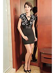 Modelo elegante del corsé del punto de las mujeres del mini vestido