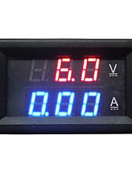 Mini Digital Blue + Rode LED DC Current Meter Voltmeter w / Ampere Shunt