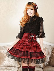 Angelic Sexy Plaid Goth Punk Lolita Schoolgirl Club Cosplay Print Mini Skirt