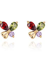 Boucles d'oreilles en or 18 carats Zircon ERZ0188 de Xinxin femmes