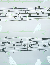Cartoon Style Musical Notes And Doves Window Film
