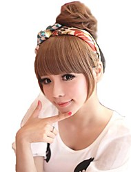 High Quality Synthetic Bobo Full Bang Hairpiece with Sideburns 3 Colors Available