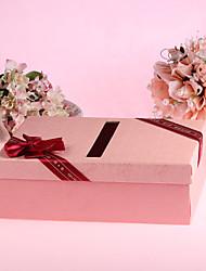 Wedding Décor Pink Hard Card Paper Cash Gift Box