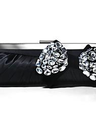 Moda de cetim com strass austria noite bolsas / garras mais cores disponíveis