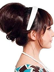 novia de la boda moño de moda mujer bollo calor cabello postizo sintético de fibra resistente a la extensión del pelo del partido de Cosplay barato