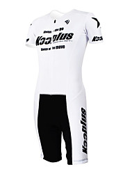 KOOPLUS - Triathlon White+Black Short Sleeve Wear and Shorts Conjoined Cycling Clothing
