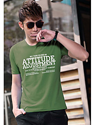 Men's T-Shirts , Cotton Blend Casual D&M