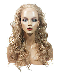 Lace Front Stylish Long Curly Heat-resistant Synthetic Wig(Blonde)