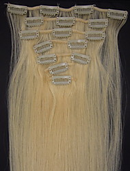 26inch 8pcs/set Indian Remy Clip-in Hair 105g For full Head(More Colors Available)