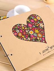 Coração Design Brown Paper álbum de fotos
