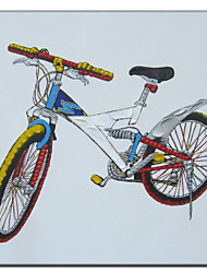 Hand Painted Oil Painting Bycicle