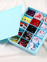 Classic Domestic Solid Underwear Storage Box - 15 Grids