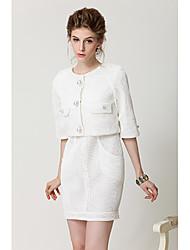 Chamson Estilo Dos Piezas Vestido de Mujer (Coat Dress +)
