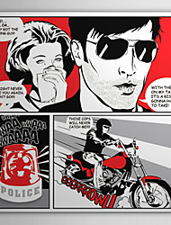 Stretched Canvas Art Pop Art Cartoon Comic Strip Motorcycling with You Ready to Hang