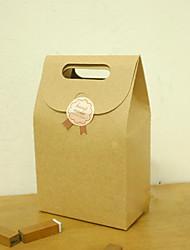 Papel Brown sacos do favor - conjunto de 6