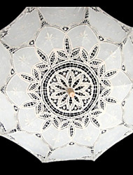 "Wedding Lace Umbrella Post Handle White 37.8""(Approx.96cm)"