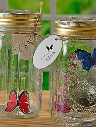 Electronic Induced Butterfly in a Jar (Random Color)