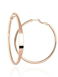 Simple Style Big Cercle Motif de Minmin femmes en or 18 carats Boucles d'oreilles