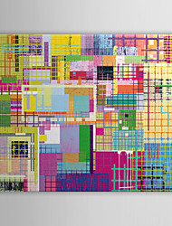 toile tendue art pop art abstrait multicolore prêt à accrocher
