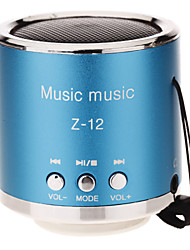 Z-12 Abgerundete Mini Speaker Support TF / SD / USB / FM Radio (blau)