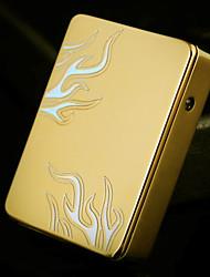 regalo del día de patrón fuego de oro del usb grabado del padre personalizado ligero electrónica