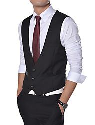 Men's Long Sleeve Vest , Cotton Casual