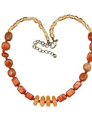 Fashion Orange Semi-Precious Necklace